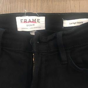 Frame jeans - black size 24